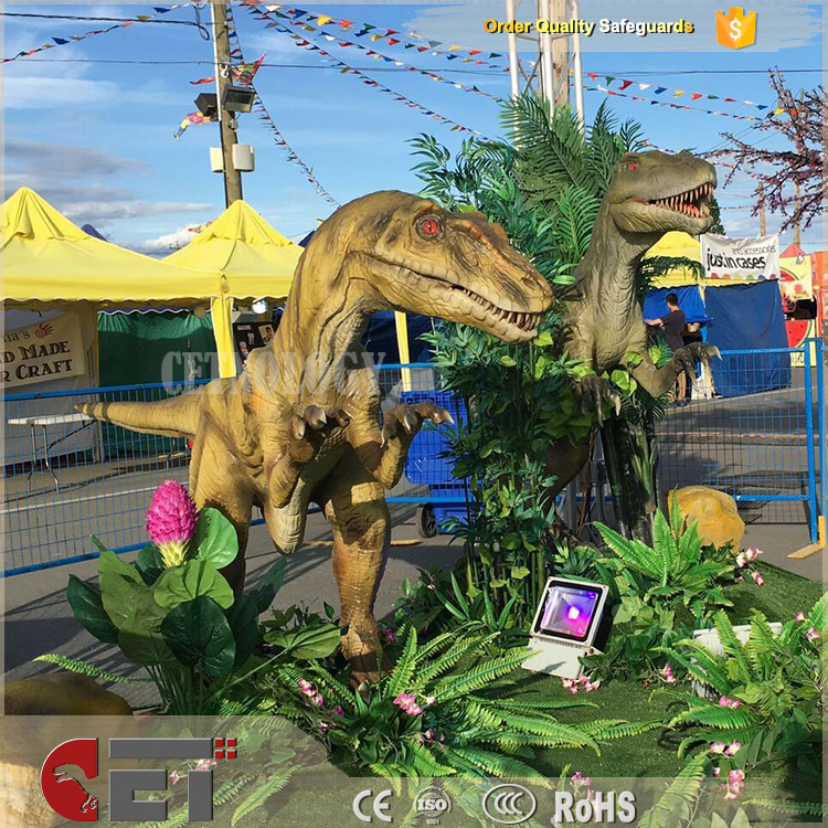 Cet-A-227 Jurassic adventure park discover dino games raptor races dinosaurs statue