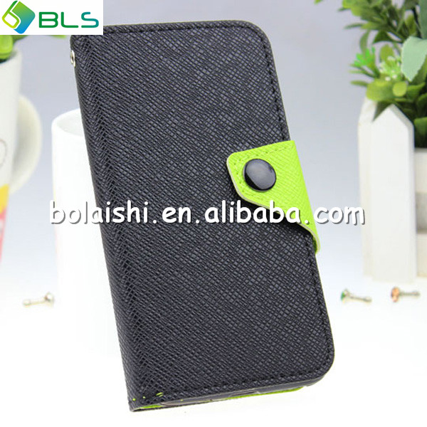 Cross pattern colour matching waterproof pu leather wallet case cover for nokia lumia 720