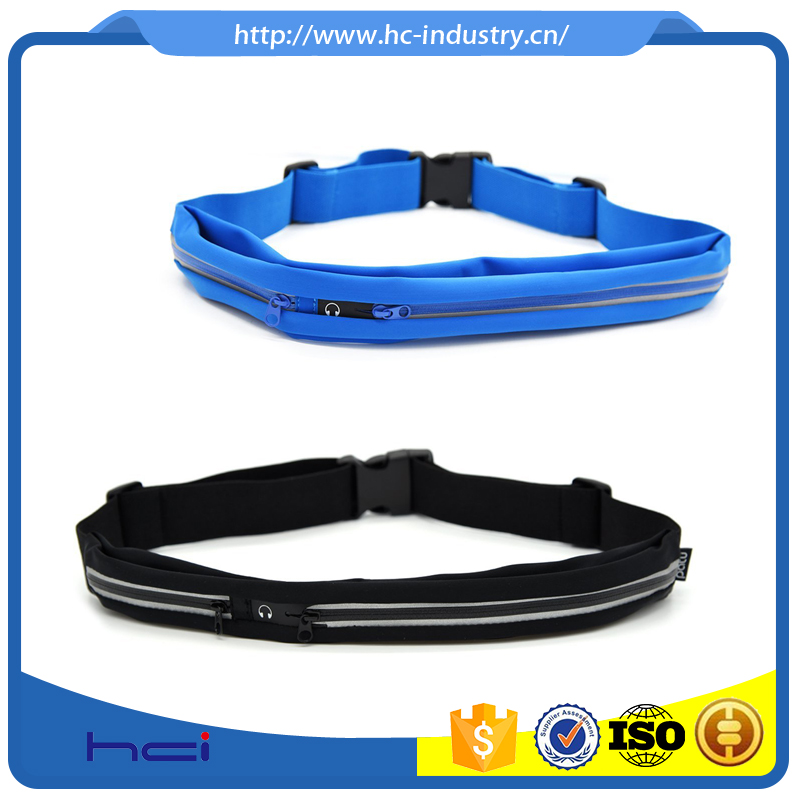 Custom Cheap Adjustable Outdoor Sport Reflective Waterproof Running Belt Waist Pack