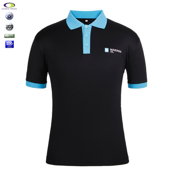 Custom embroidery blue collar polo shirts with wholesale for Cheap polo collar shirts