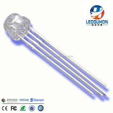 4 pins straw hat 5mm rgb led diodes