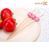 pink flower bamboo skewers for kids Eisho