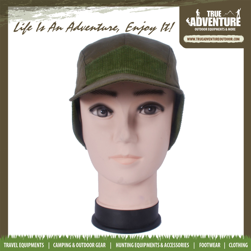 True adventure TA3-007 trucker hat with ear flaps color army green men's cap for hunting