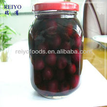 Canned black cherries