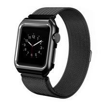 Milanese Loop Stainless Steel Band With Case Strap For Apple Watch Series 4/3/2/1