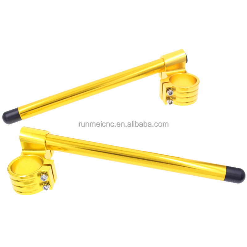 FXCNC Motorcycle CNC Handlebars Raised 50mm GSXR750 GSXR1000 clip ons handlebar all gold
