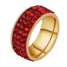 Fashion latest changing gold smart ring ruby ring for wedding