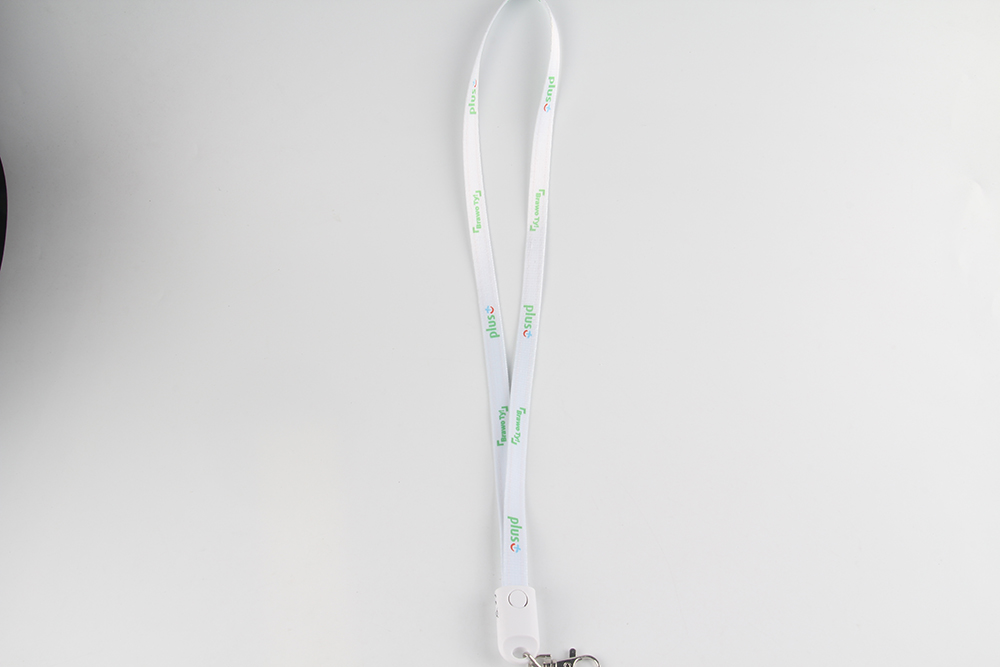 multiple connectors 2 in 1 custom logo usb lanyard charging cable