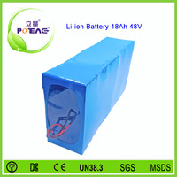18650 li-ion cell composed electric bike battery 48v 18ah