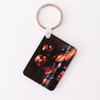 promotional unique wood custom photo keychain by sublimation technique