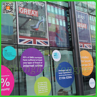 Adhesive Decals Transparent Glass Stickers For Shops