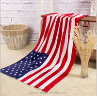 wholesale 100% cotton american flag beach towels made in China CBT-001