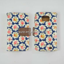 Hot Selling Flowers PU leather case Cover for Samsung Galaxy S2 i9100 Women case