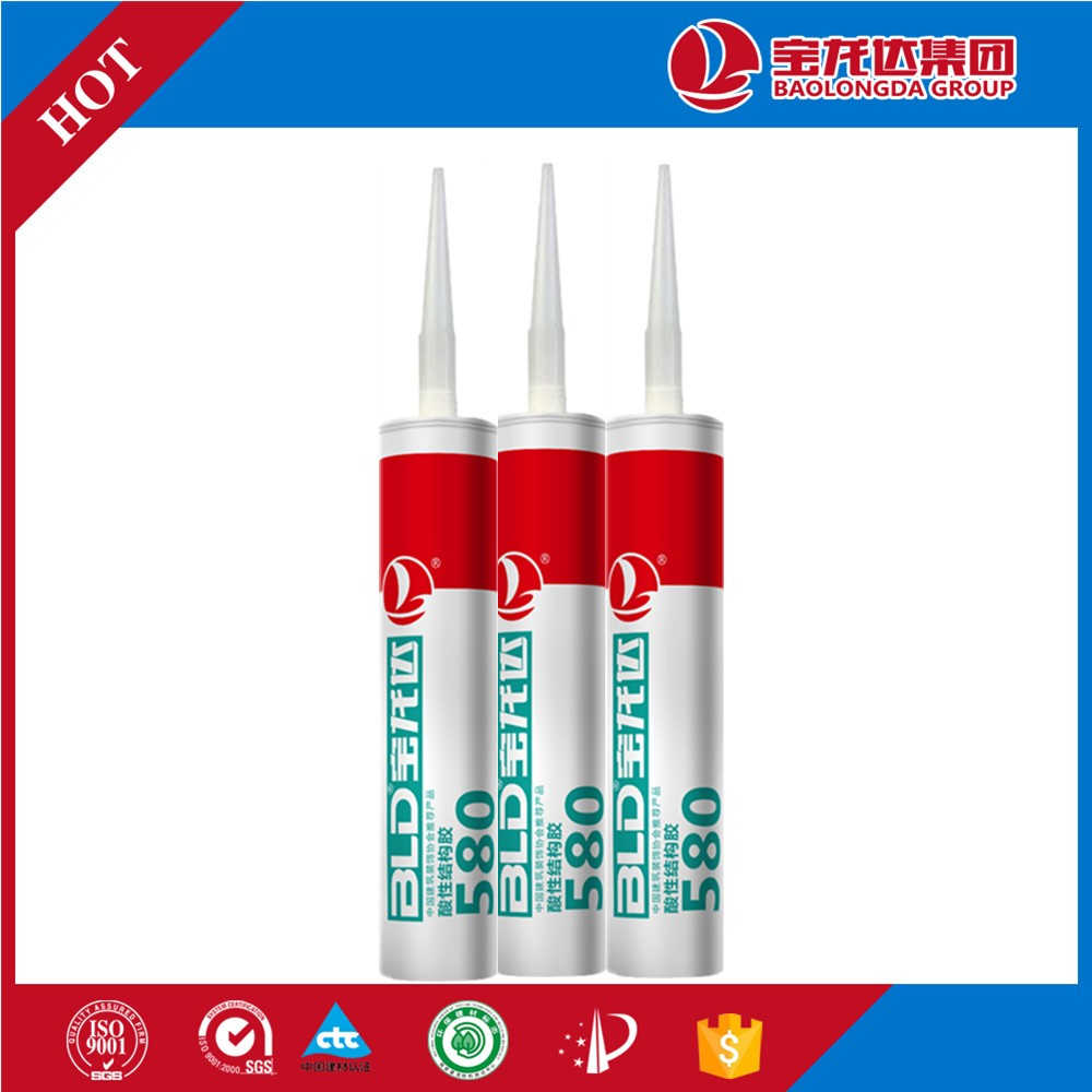 Acetic Silicone Structural Sealant BLD580 glass cement