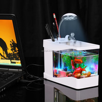 Top sale fake fish aquarium multi-function mini fish tank wholesale