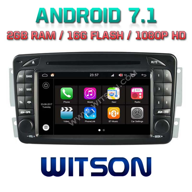 WITSON S190 ANDROID 7.1 AUTO RADIO DVD PLAYER GPS FOR MERCEDES BENZ C CLASS W203 2000 2004 CLK W209 <strong>W163</strong> W639