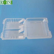 Eco-frienfly Fresh fruits vegetables disposable clear extra large plastic trays