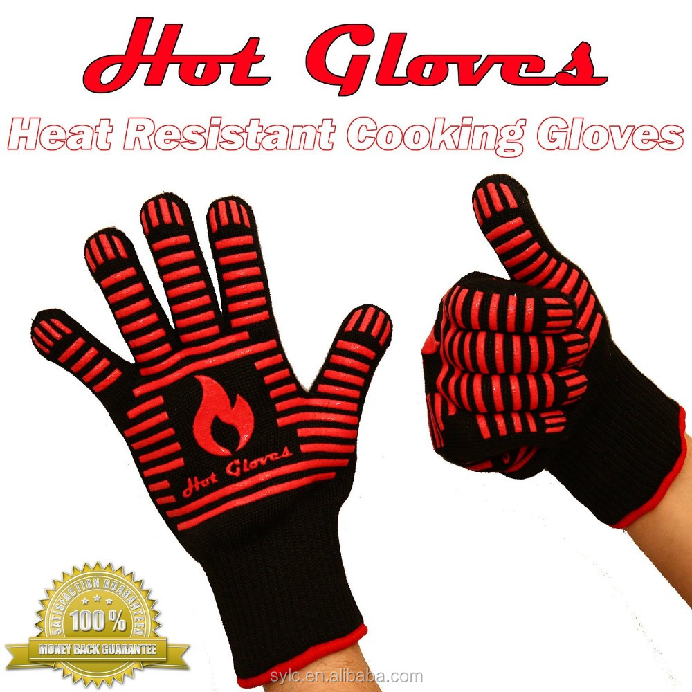 Food Grade Grilling BBQ Gloves - Waterproof Silicone Heat Resistant Cooking Oven Gloves