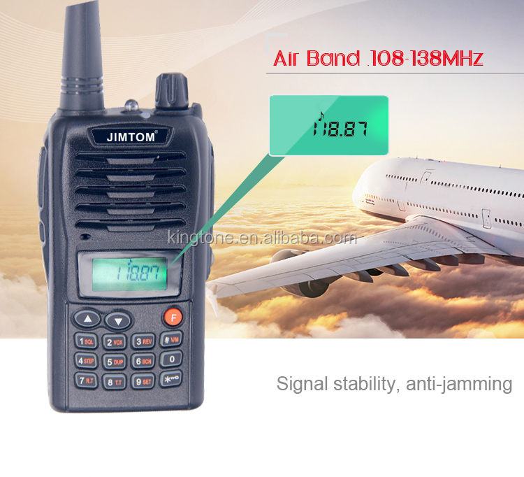 JIMTOM NEW product Air Band Handheld Transceiver KT-95A 108-138MHz FM two way radio