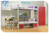 Durable and Cheap Metal Bunk Bed Parts With Mattress For University