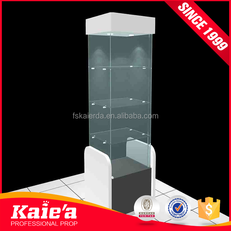 Corner glass mobile phone display cabinet for mobile display