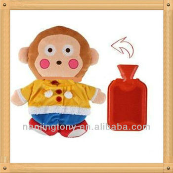 cute monkey hot water bottle toy cover