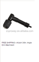Klutch 3/8 in. Angle Drill Attachment with keyless chuck