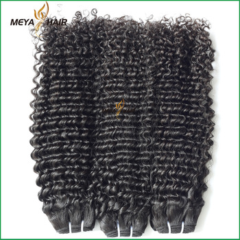 Novelty products Brazilian virgin hair 100% small curly hair weaving
