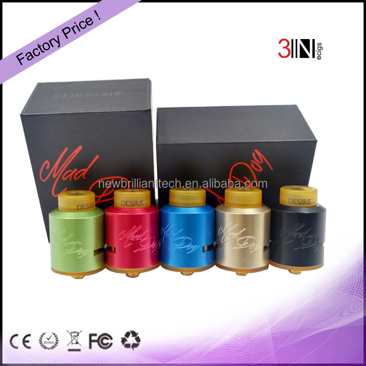 New Design 2017 Best Selling Atomizer 1:1 Clone Mad Dog RDA Vape Atomizer
