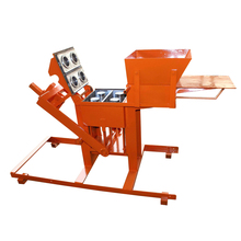 Small business manual hand press ecological interlocking brick block making machine