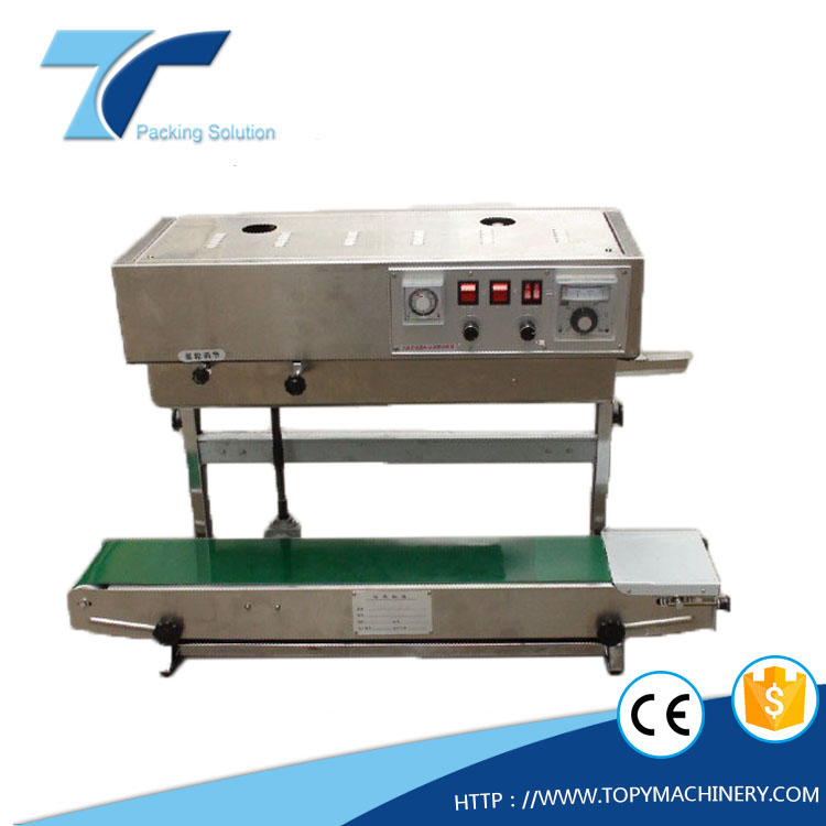 Table Continuous Ink Wheel code Sealing Machine, heat sealer