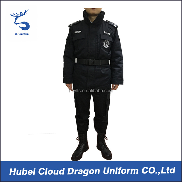 Mens working clothing safety winter security guard uniform wholesale