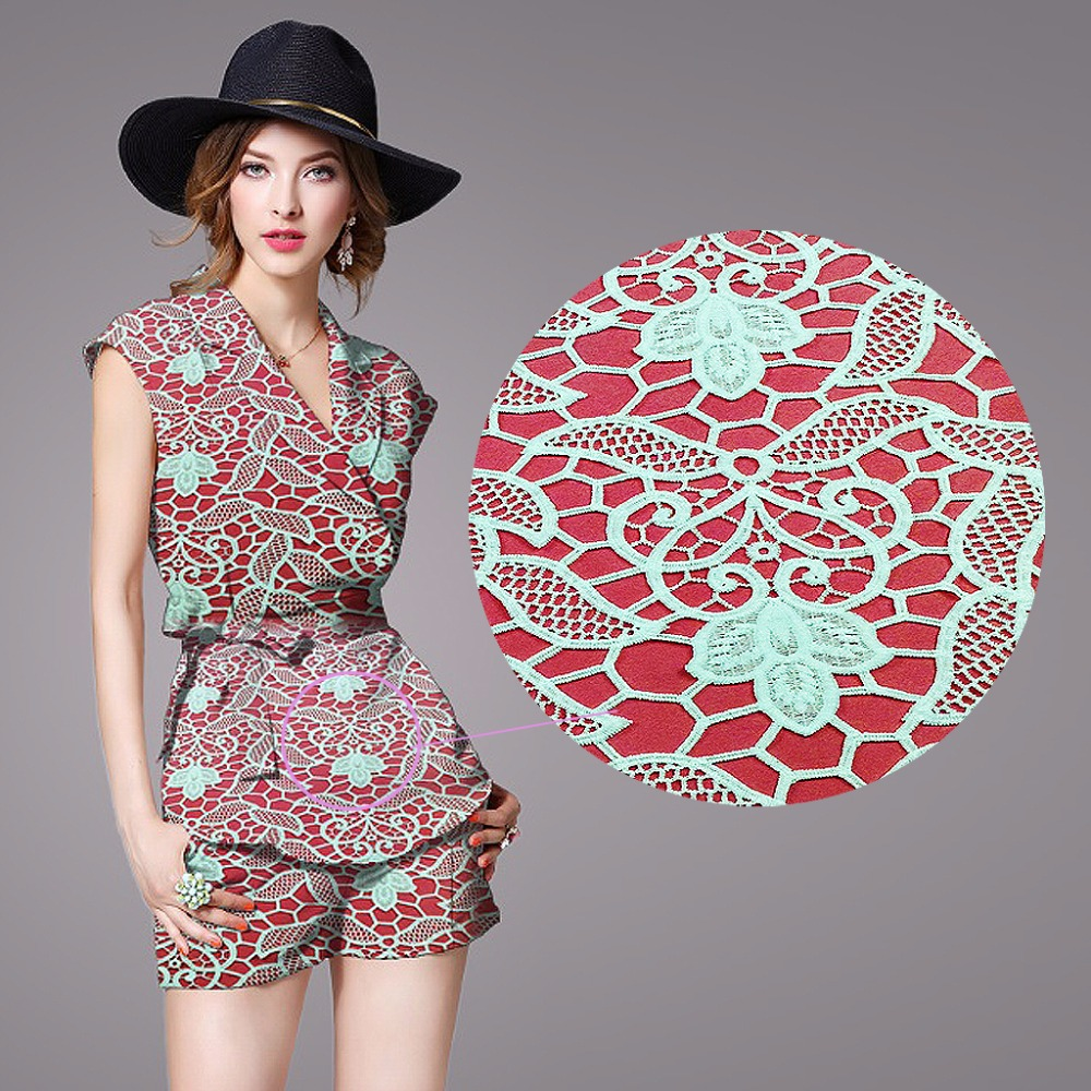 fashion luxury 3d african embroidery chemical lace