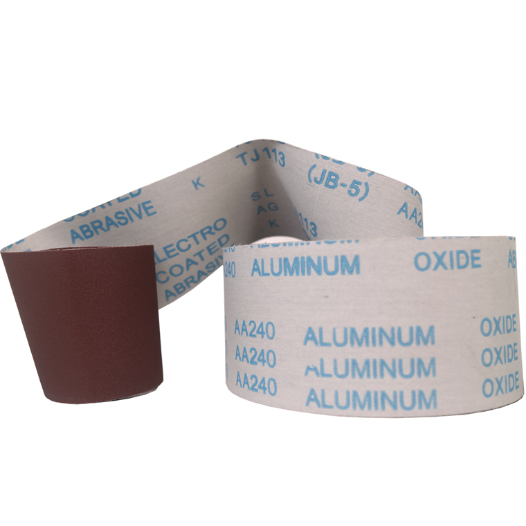soft cloth back material aluminum oxide abrasive sanding belt used for wood polishing