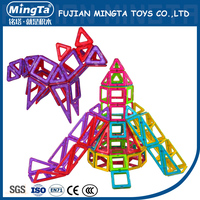 Plastic building blocks toys educational magnetic construction toy