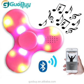 Portable Wireless Bluetooth Speaker Fidget Hand Spinner With LED LIGHT Toyes For Kids and Adult decompression
