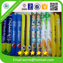 Custom Printed inflatable balloon cheering stick with custom logo,Inflatable hand clapper stick , sport balloon cheering stick