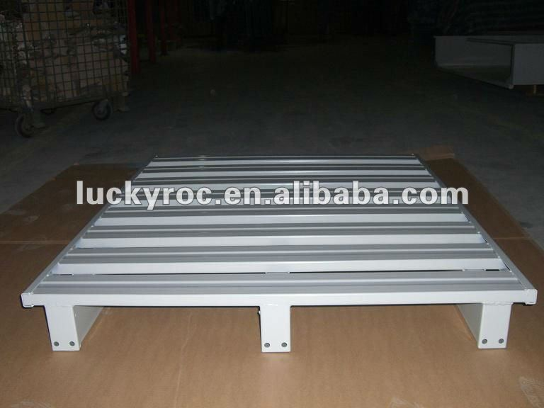Dark Bule Recyclable Stackable Steel Pallets With Heavy Loading Support