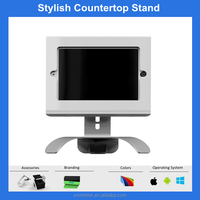 Rotating countertop tablet stand,ipad pos stand with key lock