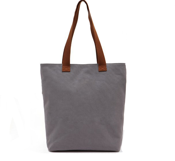 Professional Custom made Cotton canvas Tote Bag with Leather Handle