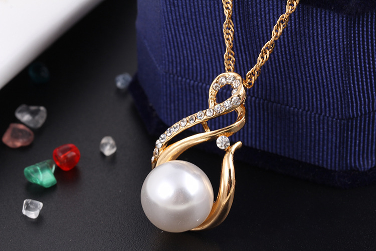Girls Wedding Jewelry Gold Plated Elegant Fashion Faux Pearl Jewelry Sets