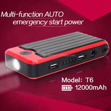 2015 top sale 12000mah car jump starter portable multi-function auto jump starter