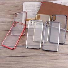 2017 New Arrival TPU Clear Case vs Metal oil Bumper For iPhone X Case