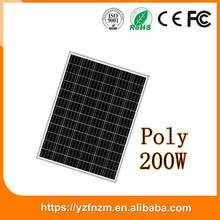 china best price 200w poly photovoltaic solar panel, sun panel
