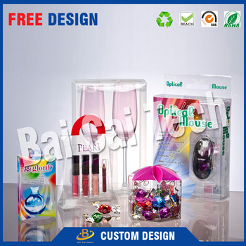 Creative design custom transparent celebration candy plastic box packaging