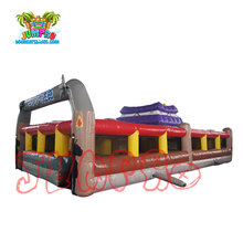 Giant outdoor yellow inflatable obstacle course inflatable maze for sale
