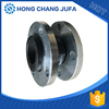 Size DN50 pipe connector single arch flexible flange rubber joints