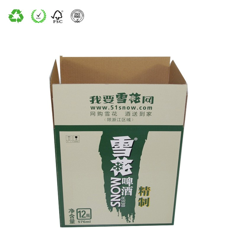 As Your Drawing Customize Recycled Packaging Corrugated Cartons for Beer