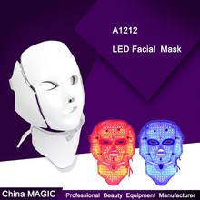PDT 7 color lights led photon therapy mask facial mask for anti-aging