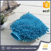 China Main Supplier Long Pile Wash Cloth Micro Fiber Mitten For Car Cleaning